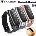 New Smart Band M6 Bluetooth Headset Sports Smartband Fitness Tracker Smart Wristband for Android iOS Phone PK Fit bit Mi Band 2