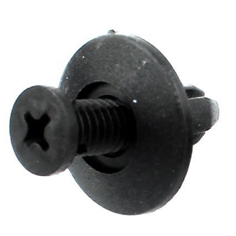 Auto 8 mm hole plastic rivet bumper mounting clip x 100 black 3