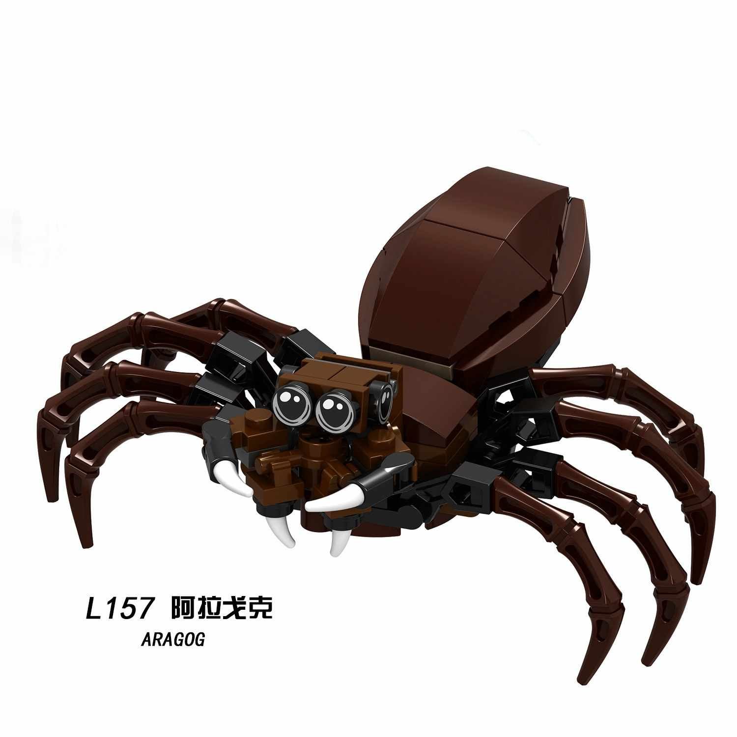 Legoing Movie Blocks Cartoon Super Heroes Aragog Occamy Hungarian Thestral Building Blocks Toys For Children Assemble Toy Block