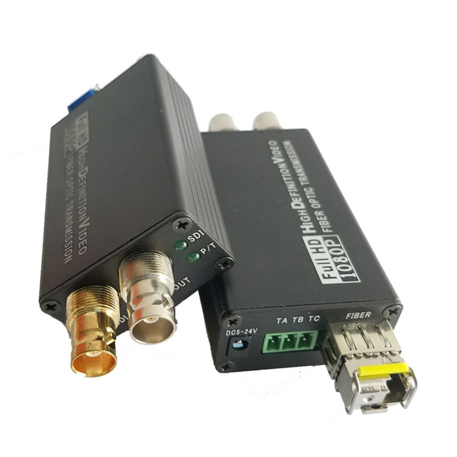 ProAV SDI Fiber Optical Transmitter Receiver With Switch Quantity Signal 1080P HD SDI Fibra Optic To