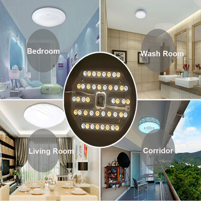 BEYLSION NEW LED Light Panel Ceiling Lamp Source 24W 38W 50W Lampada Module Lamp Energy Saving LED Board Panel Circular Light  (110)