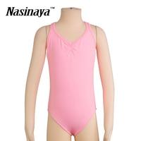 4 Colors Kid Girls Rhythmic Gymnastics Leotard RG Fitness Wear Leotard Ballet Dance Dress Costume Children Training Clothes