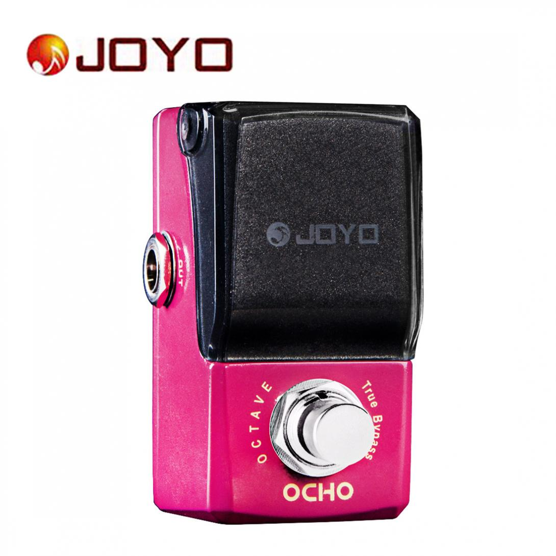 JOYO OCHO True Bypass Mini Electric Guitar Effect Pedal with Knob Guard aroma ac stage acoustic guitar simulator effect pedal aas 3 high sensitive durable top knob volume knob true bypass metal shell