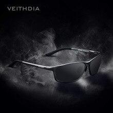 Blue Mirror Designer Aluminum Polarized Sunglasses