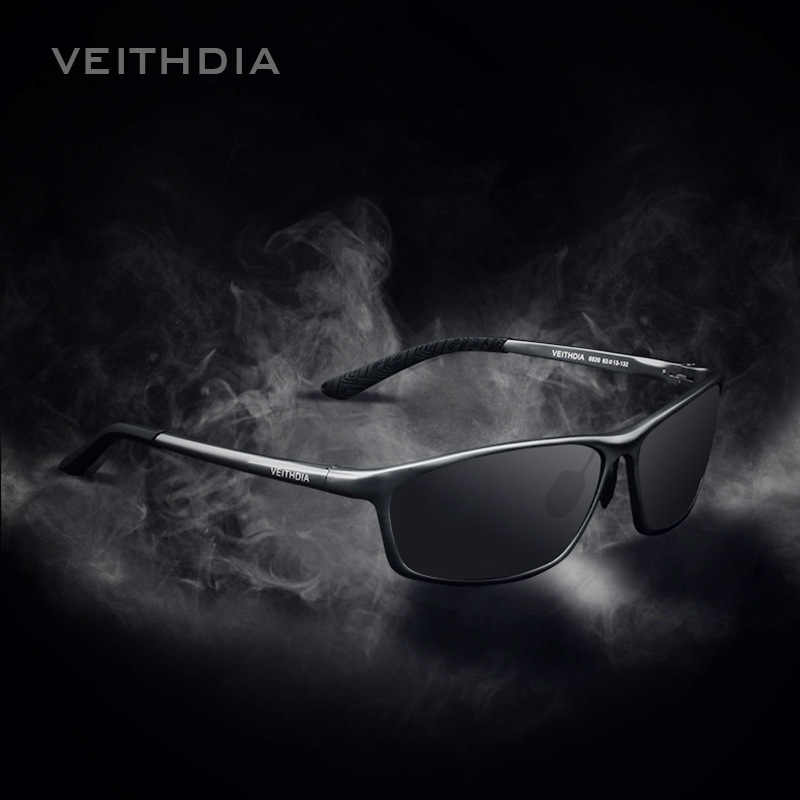 VEITHDIAแบรนด์อลูมิเนียมผู้ชายแว่นตากันแดดPolarized Polarizedแว่นตากีฬาอุปกรณ์เสริมผู้ชายกระจกสีฟ้าแว่นตากันแดดGoggle 6520