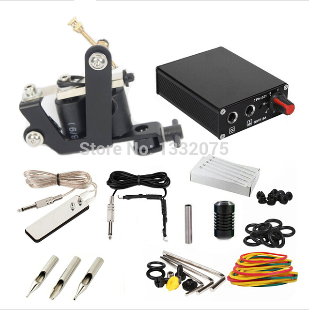 Wholesale Tattoo Kit Set tattoo machine guns power supply needles ...