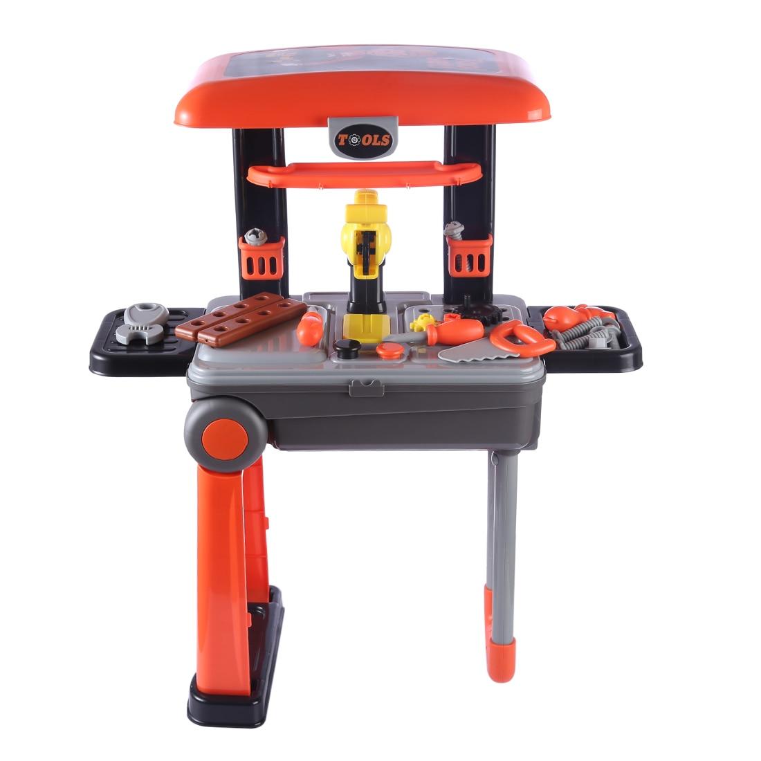 цены на Children Repair Tool Toys Set Workshop Playset Educational Toy - Orange  в интернет-магазинах