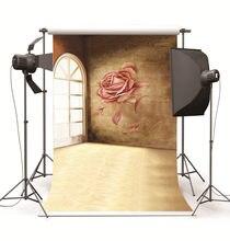 Sala interior flor parede fundos fotográficos crianças casamento pano de vinil foto backdrops para estúdio foto fundo