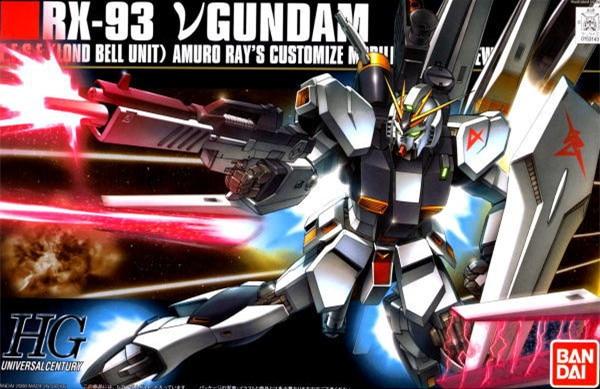 1PCS Bandai 1/144 HGUC 086 RX-93 New Nu Gundam Mobile Suit Assembly Model Kits Anime action figure lbx toys education toy