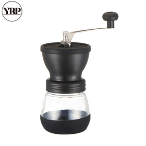 Image 2 - YRP Manual Ceramic Burr Coffee Bean Grinder with Fortified Glass Storage Jar Durable Cafe Bean Mill Coffee Maker Kitchen Tools