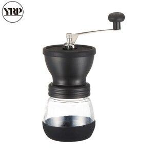 Image 2 - YRP ручная керамическая кофемолка с укрепленной стеклянной баночкой для хранения, прочная кофейная мельница, кухонные инструменты