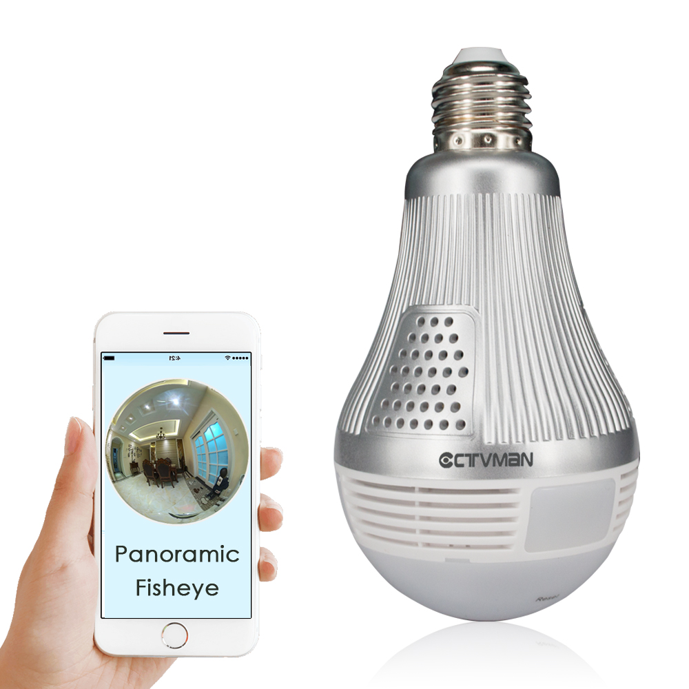 CTVMAN 360 Camera Security CCTV Mini Wireless IP Lamp Cameras Fisheye Panoramic Bulb 960P 1080P 3MP 5MP Network Wifi Ipcam      CTVMAN 360 Camera Security CCTV Mini Wireless IP Lamp Cameras Fisheye Panoramic Bulb 960P 1080P 3MP 5MP Network Wifi Ipcam