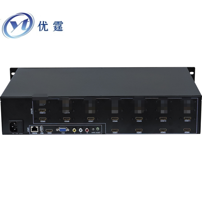 YOUTING YT-BOX4X3 LCD Video Wall Controller HDMI VGA AV USB Processor 4x3Nine images stitching image processor 12TV