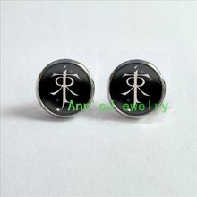 ES-00139 1pair Lord ear stud Earrings Elf pierced earrings symbol Earrings jewelry glass Cabochon Earrings