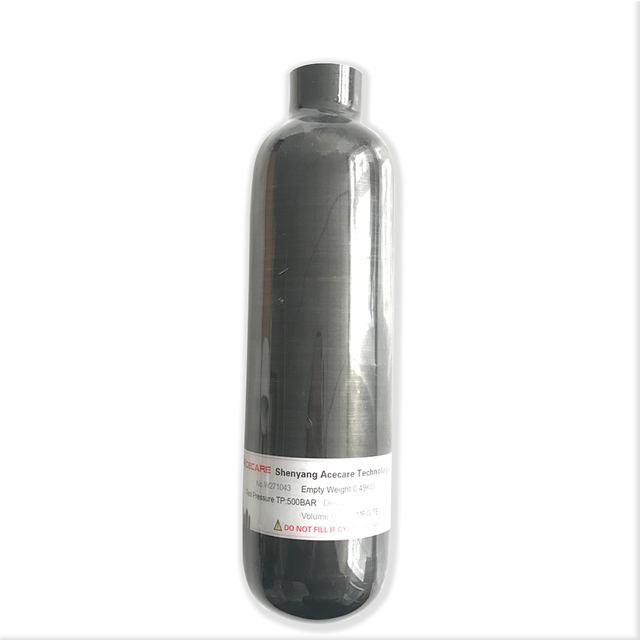 AC3035 Acecare Air RIFLE 350cc 4500Psi PCP/Paintball ถังสีดำ PCP คาร์บอนไฟเบอร์กระบอกสำหรับล่าสัตว์ HPA Compressed Air ถัง
