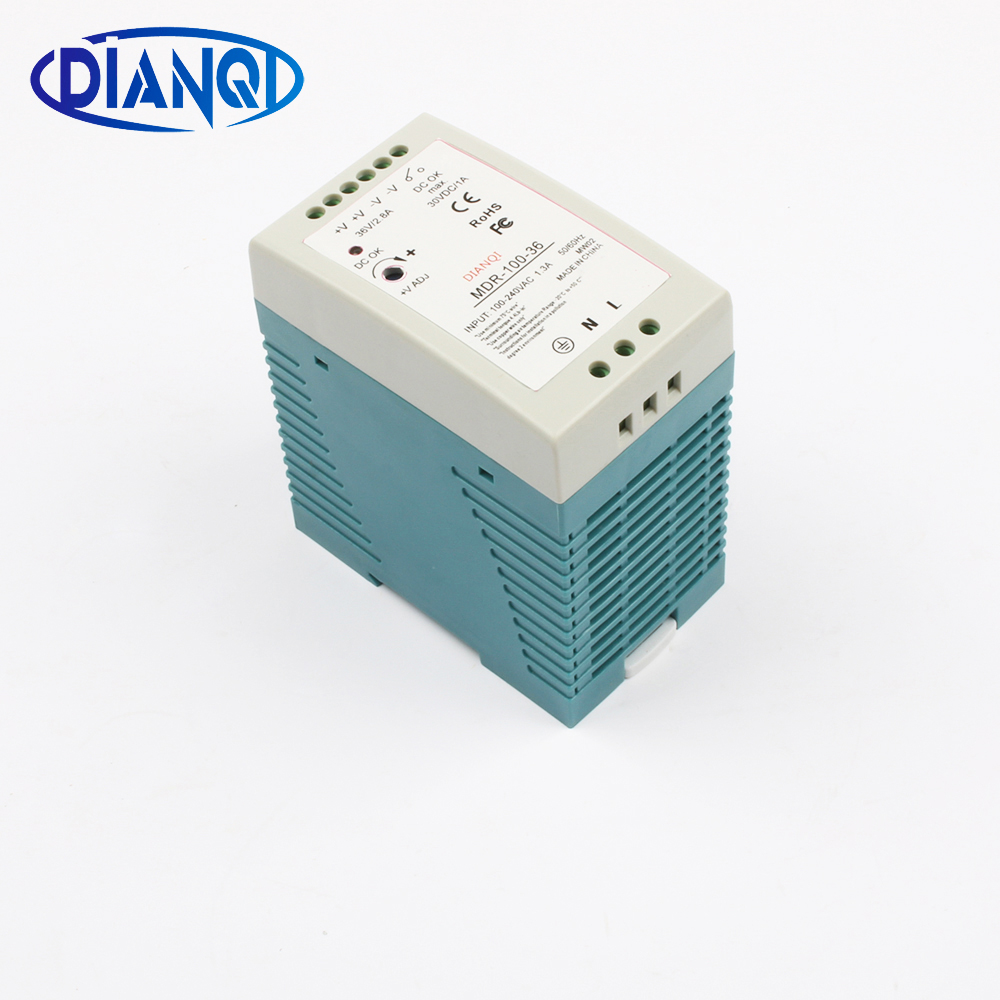 Mini switching power supply MDR-100 3A 36V 100W Din Rail power supply ac-dc driver voltage regulator power suply 110V 220V mini switching power supply mdr 100 2a 48v 100w din rail power supply ac dc driver voltage regulator power suply 110v 220v