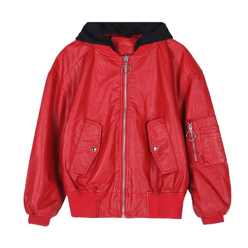 Women New Fashion 2019 Jacket Coat Plus Big  Parker 3XL Obesity Female Short Jacket Korean Pu Imitation Leather Outerwear Spring