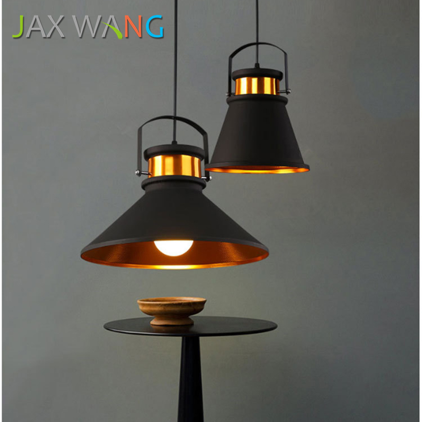 Bedroom Lamps Made In Usa: Europe And America Retro Industrial Wind Aluminum Pendant