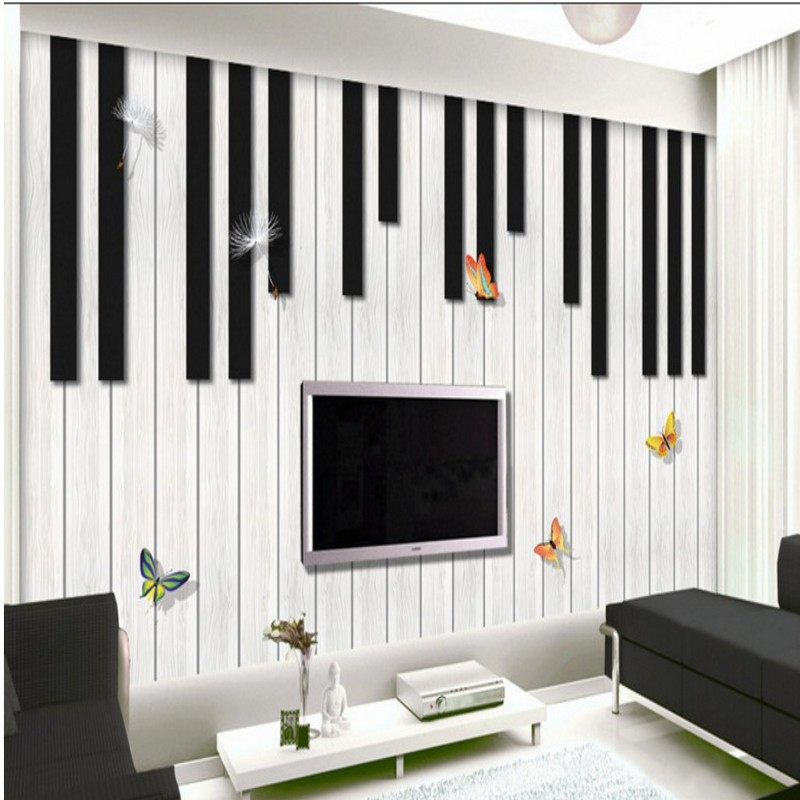 Photo Wallpaper Custom Piano Fashion Creative Music Mural TV Background Wall Living Room Studio Classroom Decoration In Wallpapers From Home