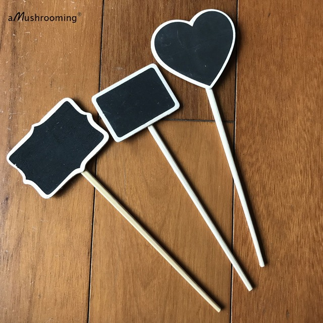 Herb Garden Marker Plant Stands Stake Set Of 10 Flower Bed Signs Organic  Gardening Stakes Heart