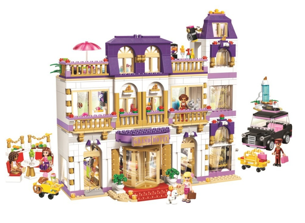 ФОТО 1585 pcs 10547 Girls Friends Heartlake Grand Hotel Figures Building Blocks Kid Model DIY Bricks Toys gift Compatible with Lepin