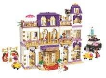 1585 pcs 10547 meninas amigos heartlake grand hotel figuras blocos de construção criança modelo diy bricks brinquedos presente compatível com lepin