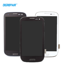 New Black White Blue For Samsung Galaxy S3 i9300 LCD Display Touch Screen Digitizer Full Assembly +Home Botton + Bezel Frame