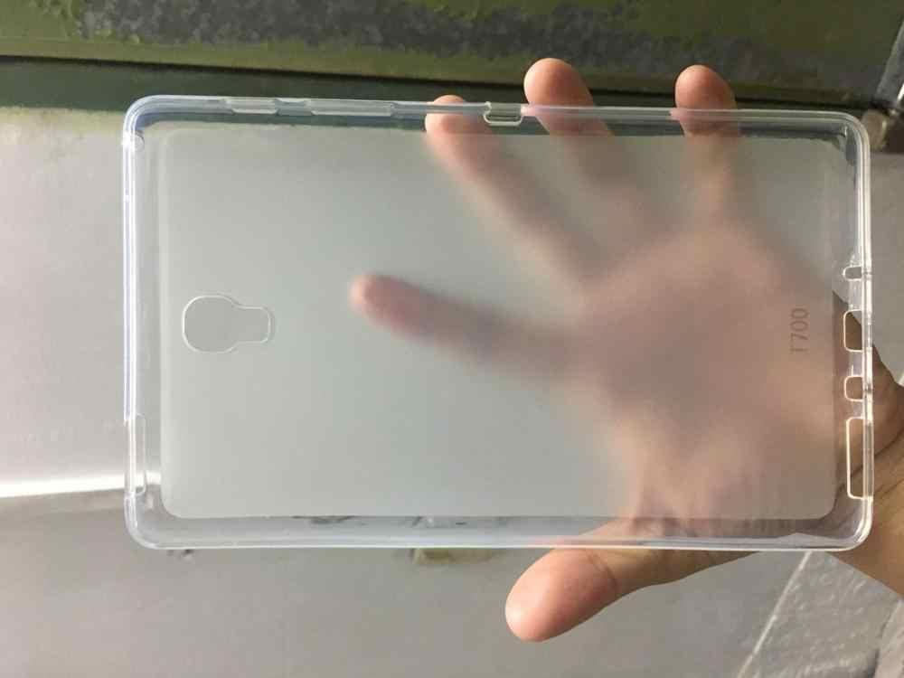 SM-T705 SM-T700 Tablet untuk Samsung Galaxy Tab S T700 T705 8.4 ''Drop Perlawanan Lembut TPU Cover Shell Kembali funda + Pen