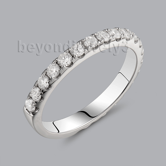 Genuine Diamond White Gold Ring Band In18kt White Gold for font b Engagement b font font