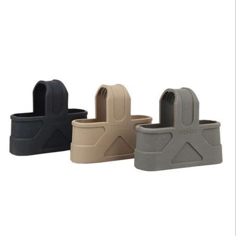 3PCS 7.62 NATO Rapid Cage Mag Rubber Loops Assist Black  Green Sand Color Can Be Choosed Free Shipping