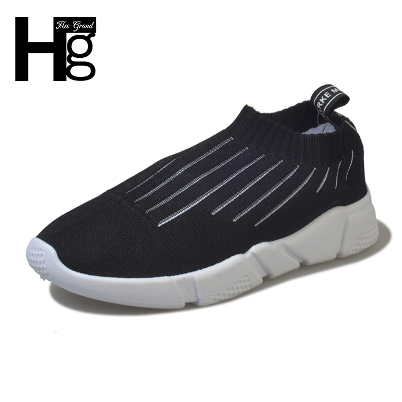 HEE GRAND Spring Women Shoes Solid Mesh Comfortable Slip On Casual Woman Sneaker Shoes 2018 New Fashion Flats Shoes XWX6700 hee grand sweet faux fur slippers fashion flats shoes woman slip on bowtie winter warm women shoes 4 colors size 36 41 xwt966