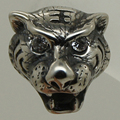 Cool men/boy pedra cz crown king tiger 316L parafuso prisioneiro de aço inoxidável brinco