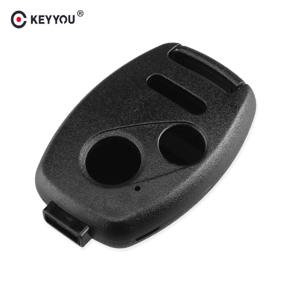 Chiave Telecomando per HONDA Accord CRV Pilot Civic Fit Fob 3 4 Tasti No Blade Black Remote Key Shell Case Fob