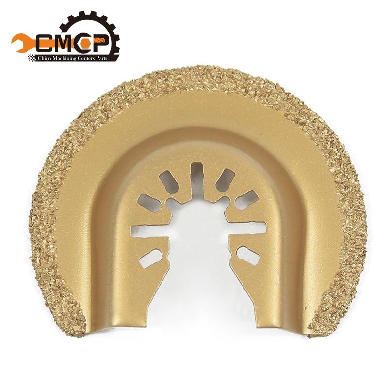 64mm Half Circle Diamond Quick Release Oscillating Saw Blade Renovator House DIY Tools