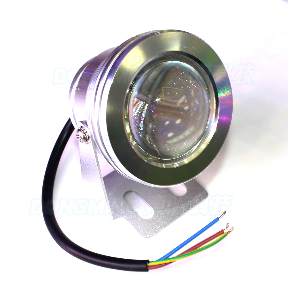 Led Underwater Lights Useful 10pcs Silver Cover Ac85-265v Convex Lens Underwater Led Light White/warm White Underwater Led Lamp Ip68 10w Pool Lights Crease-Resistance Led Lamps