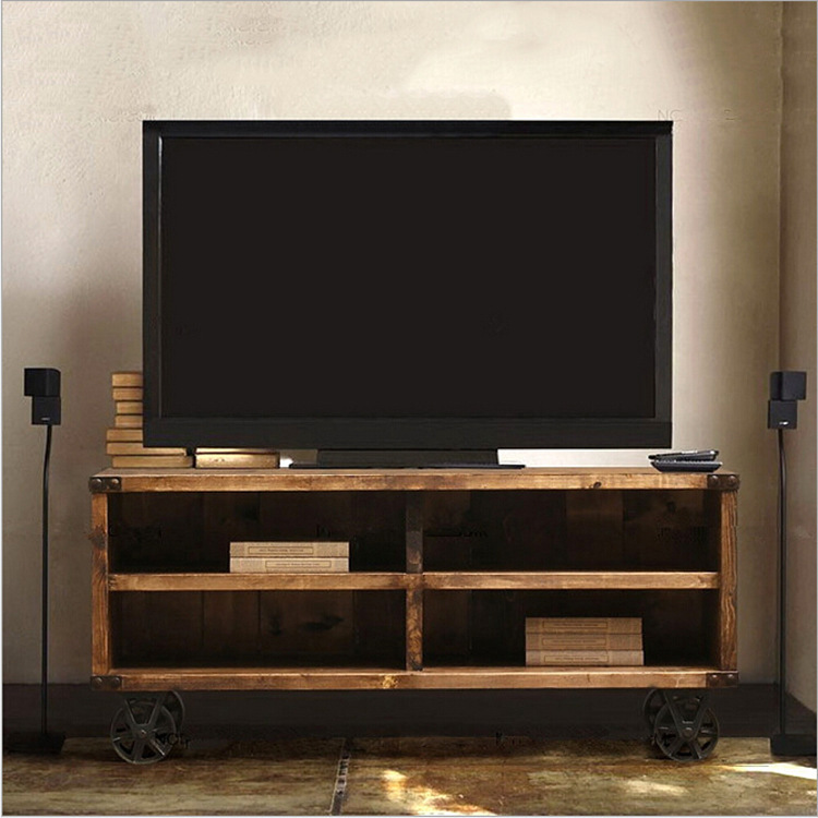 Aliexpress American Clic Solid Wood Furniture Rustic Of Tv Cabi From  Reliable Garden