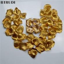 1000pcs/lot Cheap Slik Artificial Rose Petal Wedding Party Decoration Festival Decor Simulation Flower Petals gold silver Colors