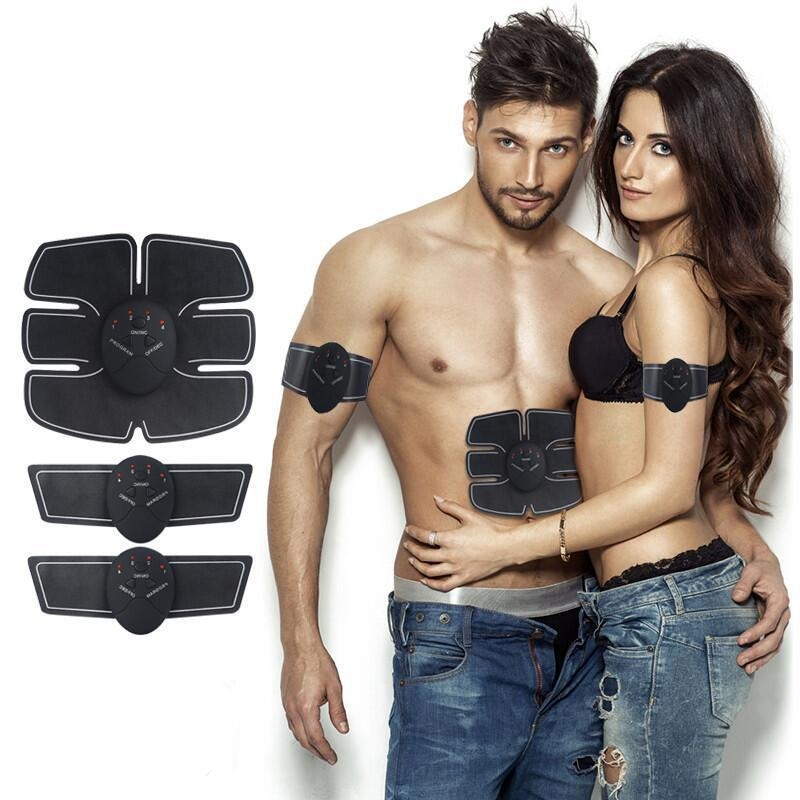 Power Fit Vibration Abdominal Muscle Trainer Body Slimming Machine Fat Burning Fitness Massage Abdominal Loss Exercise Belt EMS