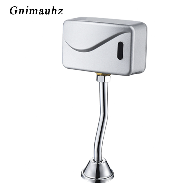 Bathroom Sensor Touchless Urinal Flush Auto Sensor Urinal Flush Valve Toilet Exposed Wall Mounted Automatic DC 6V Accessories image