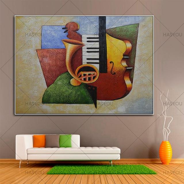 Stillleben Modern kein gestaltet musikinstrumente handgemalte öl paintng moderne