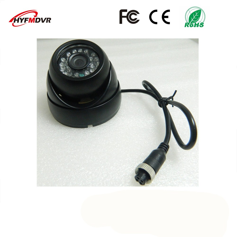 ahd1080p 720p 960p semi elliptical infrared night vision monitor head metal shell 12v wide voltage sony 600tvl taxi camera 120 degree wide-angle hemisphere monitor head 1080p/720p/960p 3 inch black metal case SONY 600TVL taxi / school bus camera