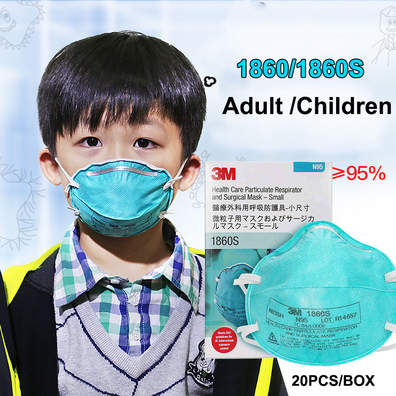 3M 1860 1860S N95 Dust Mask for Children Adult Health Care Particulate Respirator Anti virus Anti