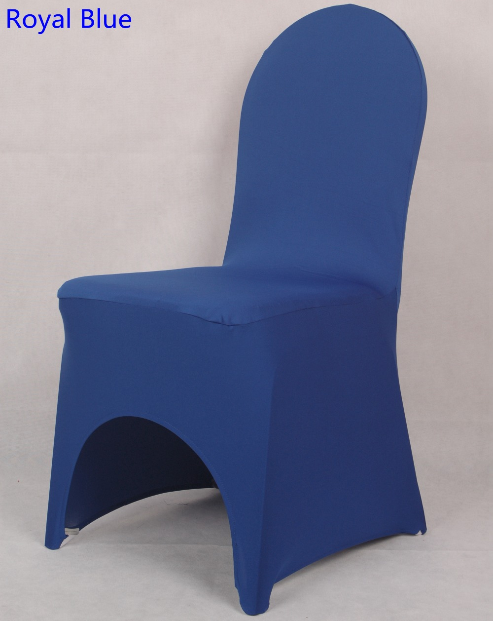 Royal Blue Chair Us 1 6 Colour Royal Blue Lycra Chair Cover For Wedding Decoration Banquet Spandex Chair Cover Wholesale Dinning Chairs Arch Front Open In Chair