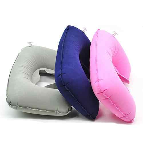 POP ITEM 1Pc Inflatable Air Cushion Rest U Shape Plane Flight Portable Pillow for Travel Office Nap Head Rest Air Cushion Neck P