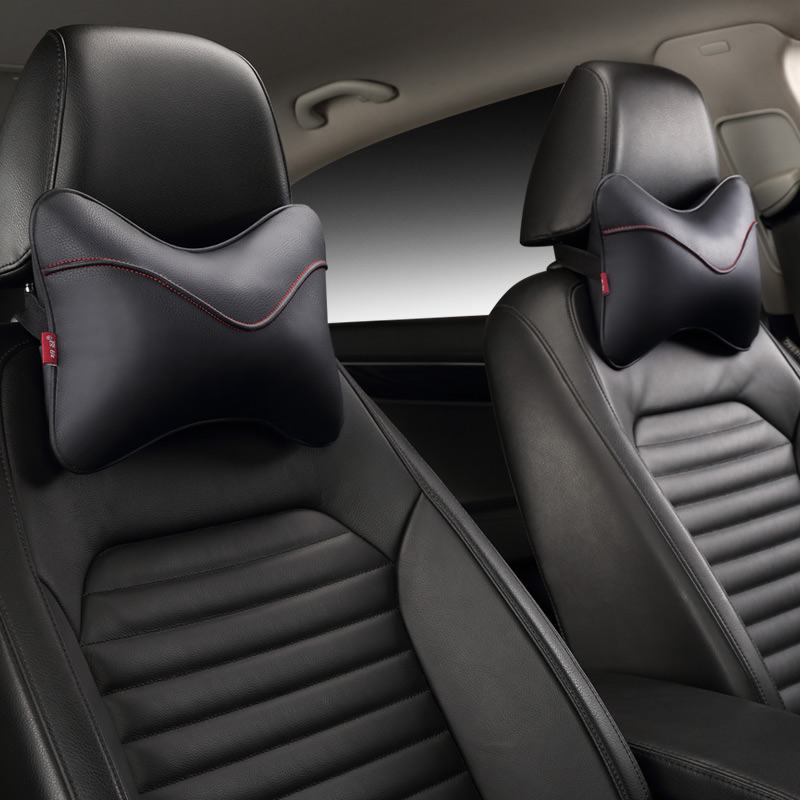 The neck with PU new leather car seat cushion <font><b>pillow</b></font> bone neck <font><b>pillow</b></font> headrest of GM four seasons