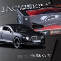 RMZ City Bentley Continental GZ554021 1/32-36 Scale 5 Inch Diecast Vehicles Model Car Toys Best Gift for Children Black White