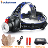 LED Sensor Headlight Induction USB Rechargeable Headlamp CREE XML T6 3800LM Adjustable Light Torch For 18650