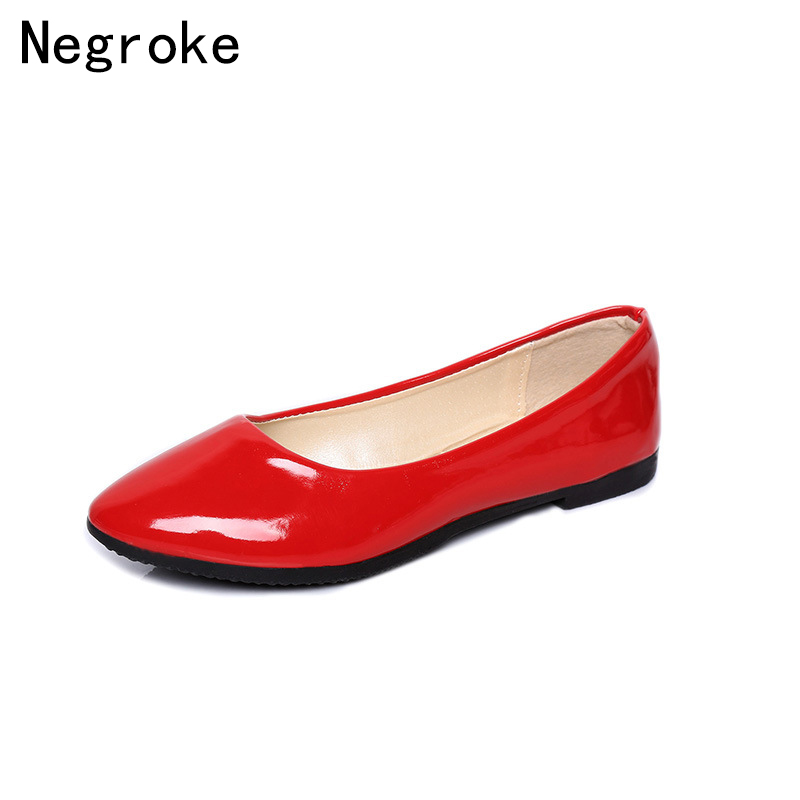 Candy Color Women Flats Slip On Boat Shoes Soft PU Leather Pointed Toe Ladies Office Shoes Woman Loafers Large Size Flats xiaying smile flats shoes women boat shoes spring summer office casual loafers slip on pointed toe shallow rubber women shoes