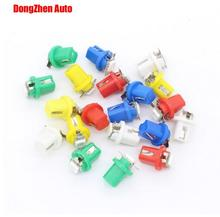 2014 NEW !!Free Shipping 10x 24V T5 LED Lamp B8.5D Car Gauge 5050 1 SMD Speedo Dashboard Dash Side Light Bulb White,Red,Blue
