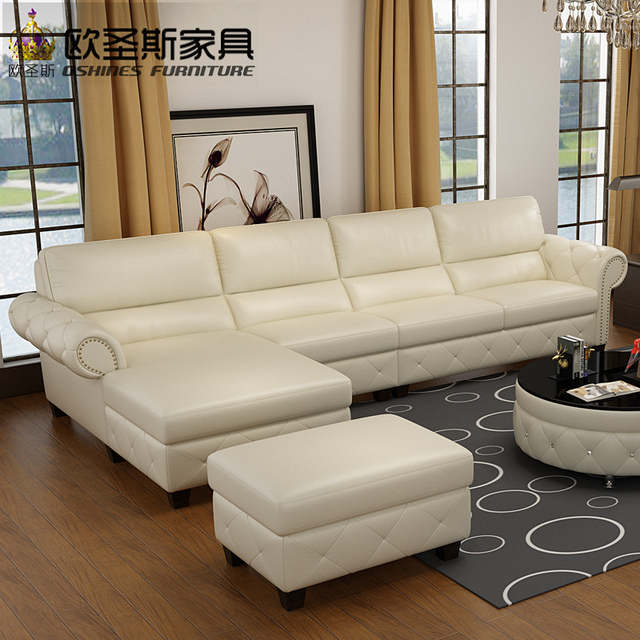 Online Shop Button Tufted Leather Sofa European Leather Sofa Sale